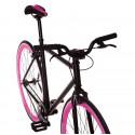 Bicicleta Fabric K SS negra/rosa